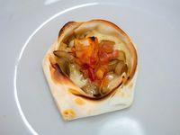 Empanada abierta de champignon