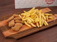 Promo - Nugget de pollo o aros de cebolla + papas fritas