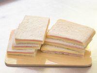 Sándwiches doble jamón cocido y queso (6 unidades)