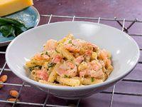 Pasta con Camarones y Pesto