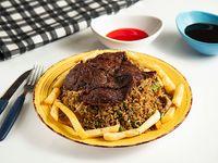 Chow Fan, Carne Asada y Papa Frita