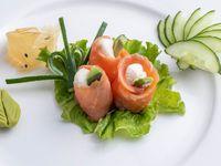 Geishas de salmón ahumado