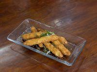Varita de camarón envuelta en panko o tempura