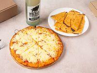 Promo 1 - Pizzeta muzzarella + 2 porciones de fainá + Pepsi 1.25 L
