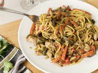 Vegetales al wok con pollo