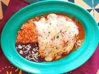 Enchiladas Rojas de  Tinga de Pollo