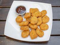 Snack de pollo con salsa barbacoa