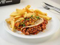 Combo 1 - 2 tacos + papas fritas + refresco