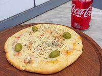 Promo - Pizza individual de muzzarella + gaseosa línea Pepsi 354 ml