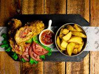 Domingo - Arrollado de pollo + Guarnición + Postre de la casa