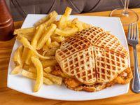 Waffle de pollo