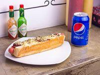 Special Dog + bebida 354 o cerveza Quilmes porrón