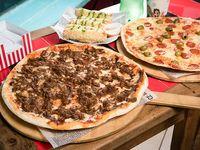 Promo 7 - 2 pizzas familiares +  Spuntino + helado artesanal 400 g. + bebida 3 L