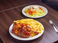 Combo - 1/2 Pollo + Papas fritas + Ensalada