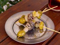 Picho de anchoa, aceituna, ají en vinagre y cebollin (3 unidades)