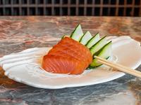 Sashimi de salmón ahumado