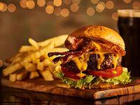 Burger Dallas city con acompañamiento