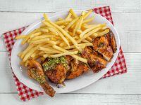 Combo 3 - Medio pollo asado + papas fritas + soda lata