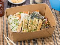 Salmón and Tuna Bang Rice