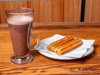 Chocolate Caliente + 2 Churros Rellenos