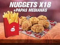 Nuggets x18 + Papa a la Francesa