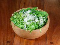 Ensalada todo verde rucula, lechuga, radicheta y apio