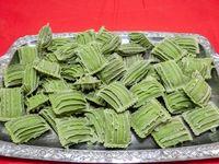 Buccunotte rallado, calabaza asada y verdura en masa de espinaca por kg