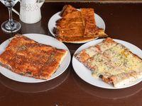 Promo linea de 1 - Pizza muzzarella + pizza + fainá