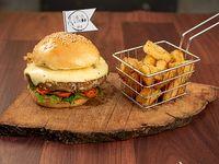Hamburguesa La Vege-soy + fritas