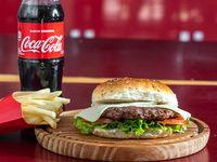 Combo 3 - Hamburguesa combinada + papas fritas (mediana) + refresco 500 ml