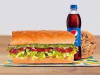 Combo Sándwich Vegetariano con Guacamole 15 cm