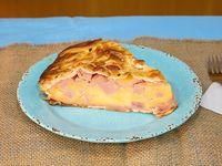 Tarta de jamón y queso individual