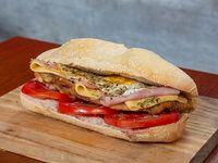 Sandwich de milanesa napolitana