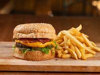 Morris burger con papas fritas