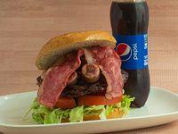 Combo Hamburguesa Ranchera + Gaseosa 400 ml