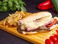 Sándwich de milanesa Costumbres con fritas