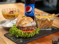 Promo - Hamburguesa casera + postre + refresco 500 ml