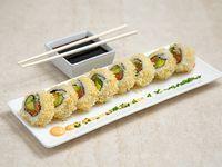 Sake cripsy roll (8 piezas)