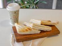Café con leche + tostado a elección