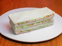 3 sándwiches de Jamón Cocido con Verduras
