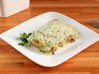 Menú sin sal - Crepes de ricotta y espinaca con crema de puerros (SIN SAL)