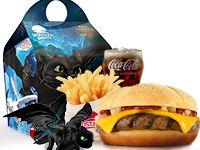 Combo - Menú Infantil Cajita con hamburguesa con queso -  - Cómo entrenar a tu dragón