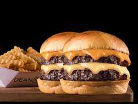 Combo doble cheeseburger con papas