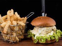 Hamburguesa gourmet fusión de quesos