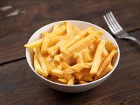 Papas fritas con salsa cheddar