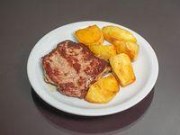 Menú 1 - Bife de chorizo con guarnición