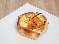 Canastita con queso y cebolla