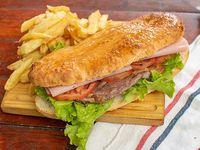 Promo - Sándwich de lomito gigante completo