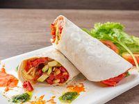 Wrap de vegetales grillados y prvolone