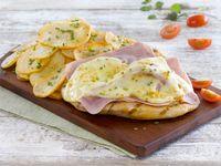 Pollo con jamón y queso